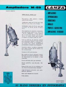 Instructivo del funcionamiento de la ampliadora Lanza M 69
