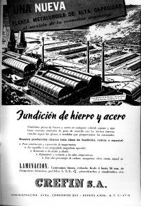Publicidad a página completa, Revista Metalurgia N° 57, Agosto, 1944