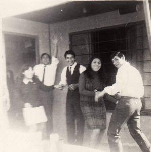 1968. Casamiento de Cacho Diaz y Carmen Amarilla.