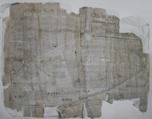 un plano de enero de 1892 inédito de la Dirección de Geodesia, del Ministerio de Obras Públicas de la Pcia. Bs. As., del agrimensor Paulino Silva, donde se ven croquis de las instalaciones industriales de FCN.