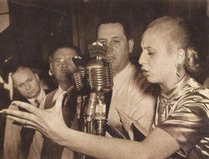 Eva Peron sufragio femenino
