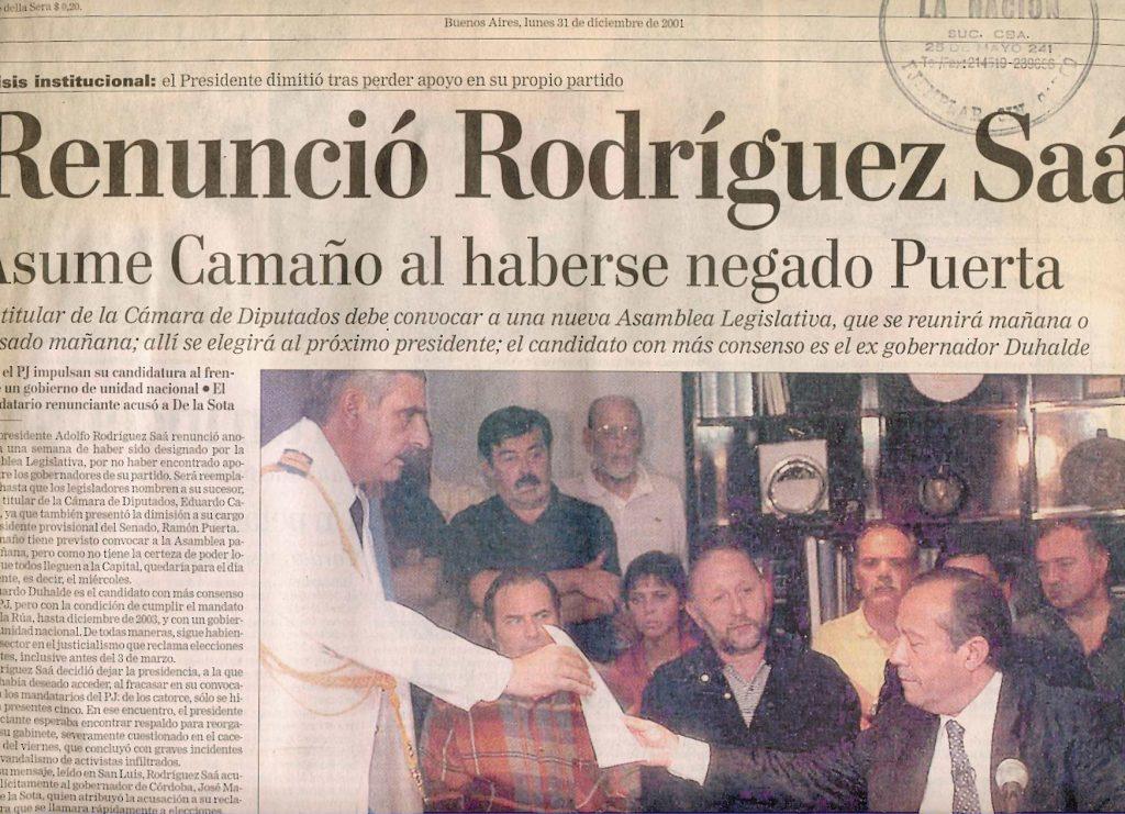 Hacerse cargo: Eduardo Camaño presidente