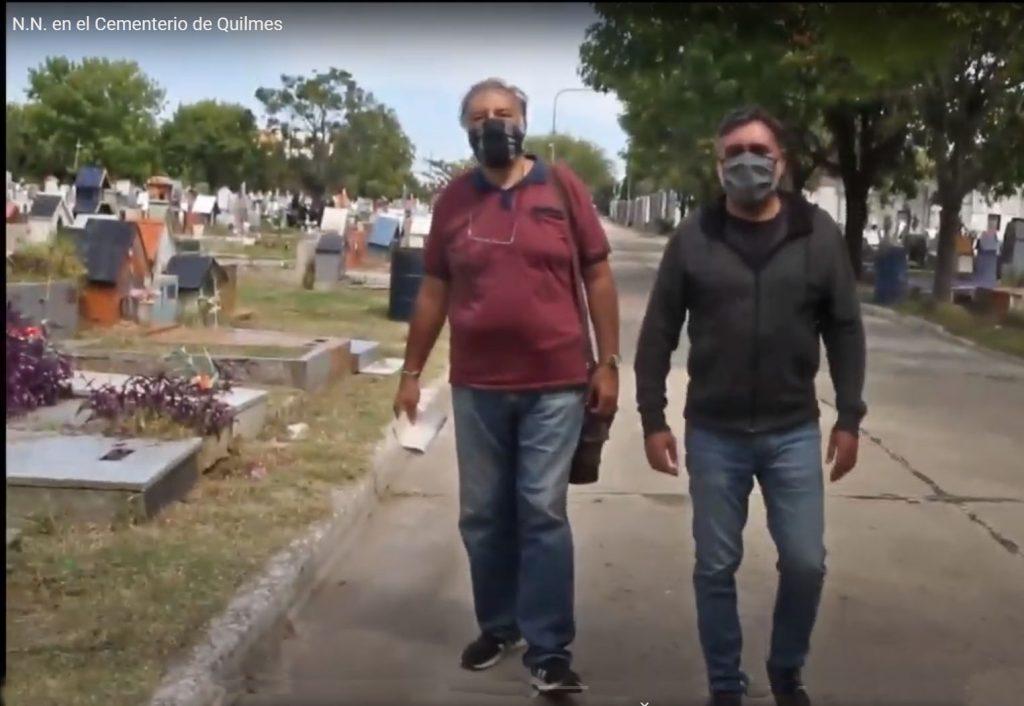 N.N. en el cementerio de Quilmes