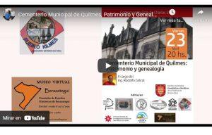 cementerio municipal de Quilmes, patrimonio y genealogía.