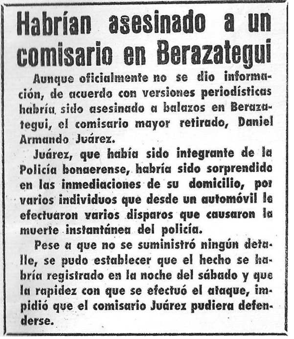 comisario Juárez revolucion fusiladora
